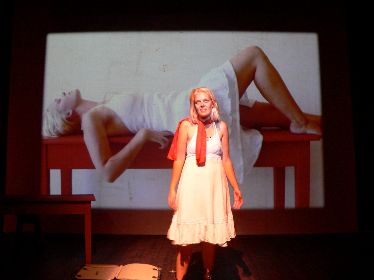 "Tess performing in ""Bodily"""