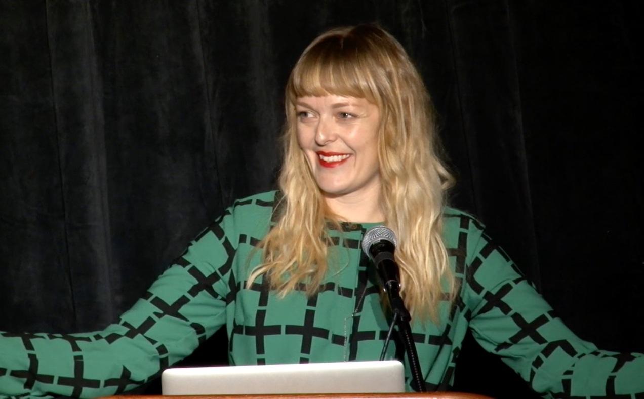 Tess at WordCamp US, 2016